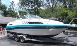 Perfect for family fun. Boat has been well maintained and meticulously cared for. Sleeps 4 comfortably. Has a toilet, shower, refrigerator, stove and sink. For your cruising enjoyment it comes with full canvas, Bimini top and mooring cover. Has a