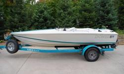 A gorgeous speedster, we all know and love the irresistible Donzi Sweet 16. This is the classic Vette of the water. Babied and pampered, this sleek runner is in immaculate condition. New GM Vortec V-6 installed in 1996, has approx. 220 hours on it and