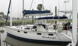 PRICE REDUCED!!!If you are ready to go Champaign Cruising on a Beer Budget you have just found your yacht! This proven Hunter 35.5 has got to be the most cruise equipped on the market today if ever! With all the right stuff including solar panels and wind