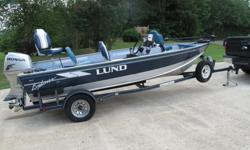 THIS IS A SUPER NICE FISHING BOAT IN EXCELLENT CONDITION....... LUND BOATS ARE VERY HIGH QUALITY.2004 HONDA FOUR STROKE IS VERY QUIET AND GREAT ON GAS........LOW HOURS.......MINN KOTA I PILOT WITH 20FT CORD TO MANEUVER THE BOAT FROM ANY PLACE ON THE