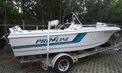 year: 1994Use: Fresh WaterMake: PROLINEEngine Type: Single OutboardModel: CENTER CONSOLEEngine Make: Evinrude EngineType: Center ConsoleEngine Model:140Length (feet): 19Primary Fuel Type: GasBeam (feet): 7Fuel Capacity: 41 - 50 GallonsHull Material: