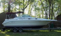 1994 Sea Ray 270 Sundancer.Overall the boat is 29 feet, 11 inches long and 8.5 feet wide. New Reman 454 Marine engine last year at the end of the season, correct 454 marine re-manufactured gen5 engine warrantied for 18 months, it was professionally
