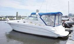 1995 33' Sea Ray 330 Sundancer. Less than 20 hrs on twin gas 5.7L 350 EFI engines. 310HP each.  Owner has replaced the shafts, struts, cutlass bearings, thru hulls, new electronics and many more features. Air conditioning,