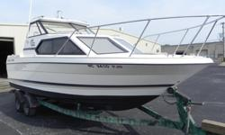 1995 BayLiner-2452 in excellent condition. Stored in a heated facility in winter. Trolling motor with only 5 hours run time-electric start power tilt 6 amp alternator, state of the art stereo, fishing seats, low hours, shore lander trailer. Many extras
