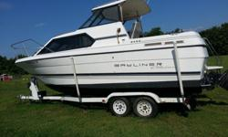 Year: 1995Use: Salt WaterMake: BaylinerEngine Type: 305Model: bayliner 2452Engine Make: mercruserType: Aft CabinEngine Model: 305Length (feet): 21Primary Fuel Type: GasHull Material: FiberglassTrailer: IncludedVery low hours this beautiful boat has a new