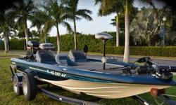 1995 Champion Bass Boat powered by a Mercury 225 EFI with around 200 hours of use. This Freshwater boat from Arizona has very little use on her, was garage kept, and is in Excellent condition for her year. The compression that is shown in the pictures is
