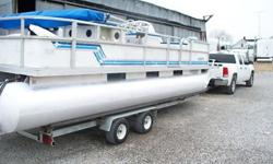 Features Type: Pontoon Engine type: Single outboard Use: Fresh water Length (feet): 24.0 Engine make: Mercury Primary fuel type: Gas1995 CREST PONTOON 24 FT. WITH TRAILERNEW COVER , NEW UPHOLSTERY, FISHING SEATS ON FRONTTROLLY MOTOR, 48 SUPER MERCURY O/B,