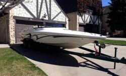 This boat is was built for competition (CS=Competition Series), there is a built in ballast tank in the front that you can fill up to take corners quickly, and when the tank is filled and the trim tabs are down this boat planes out in 2 seconds. This boat