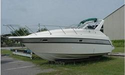 """Make:MAXUM.Model:2700 SCR.Length:27.Horsepower:300.Propulsion Type:SINGLE I/O.Hull Material:FIBERGLASS/COMPOSITE.Fuel Type:GAS.Fuel: gallons .1995 MAXUM 2700 SCR. This 27' cruiser is in good condition. With its 9' 6"""" beam it offers a spacious cabin and"""