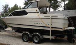Description: 1996 Bayliner Express Cruiser. Excellent condition. Very Clean. Low hours (just over 500). On almost new trailer. will consider trade, up or down, for Trackhoe, Trike, Travel trailer, or interesting Antique Auto. V Berth & Convertible Dinette