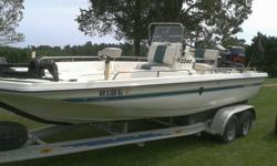 1996 Century 22 ft center console fiberglass boat with 1999, 150 Yamaha V Max Motor runs great. Aluminum tandem axle trailer with brakes, Lowrance depth Finder, 24 volt Minn Kota 80 pound thrust trolling motor. 5 live wells. 4 batteries 2 for boat 2 for