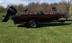 1996 Champion Boat with a 1996 Mercury 150 HP XR6 motor and matching Champion 1996 trailer. The boat has been used very little and always stored indoors with a cover. It has only been used in fresh water. Boat runs excellent and is ready for the water It