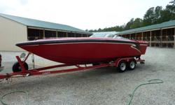 This is 96 242 Convincor ? 24 feet, but with the swim platform the boat is 26 feet. This boat shines like new. Never buffed, just hand waxed. Aside from a 2 month period when I bought the boat, it has always been garage kept since new. The boat has also