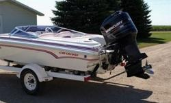 This is a gorgous 21' Checkmate Pulsare 2100 in like new condition.Boat has no flaws inside or out .Powered by matched year Mercury 225 EFI XRI 3.0Liter.CMC Jackplate.Hotfoot throttle.Powersteering.Gaffrig gauges with color matched bezels.Custom color