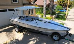 Volvo Penta 5.8 L FSi 275 Horsepower.Factory Corsa Chrome thru-hull exhausst with dual SS Chrome Pipes.Duoprop F9 Stainless Steel Props.Sony removable face Marine Grade AM-FM-CD player.19 Foot Powerhouse Boat runs about 70-73 MPH.Includes matching Four