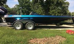 Well Kept bass boat. very few scratches does have scratches garage Or under a tarp most its life. Carpet and hall both in great shape. Fish finder. 4 blade prop. Fishing seats need redone. On board charger don't work. Runs great. Has a aurora Canvas with