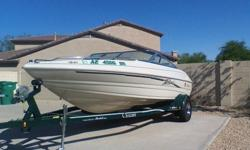 ABSOLUTELY IMMACULATE 1996 MARIAH 191 TALAR 20 FOOT BOWRIDER 101 ORIGINAL HOURS. THIS VESSEL HAS BEEN GARAGED AND COVERED AT THE SAME TIME ITS ENTIRE LIFE!!!! NEVER HAS BEEN IN SALT WATER, 4.3 MERCRUISER CHEVY V-6 W/ALPHA ONE OUTDRIVE. THE TRAILER IS A