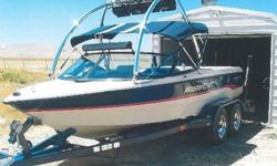 """1996 Prostar 190 (19' 6"""") -- Original Owner GREAT starter boat for a young family (or die-hard slalom skier)! Best slalom wake EVER! Great wakeboard wake with a bit more weight. Weights included if you want them. Always garaged, always meticulously cared"""