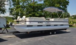 The inside IS VERY clean! See Pics! Seats are GOOD Condition!! All options work as they should!MODEL #: SUNSPA 260.SEAT CAPACITY: 16 PERSONS OR 2,275 lbs.LENGTH: 26 ft..Engine: 120HP FORCE BY MERCURY.OUTSIDE SPECS..DIXIE CRAFT PONTOON TRAILER