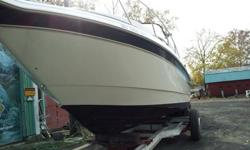 1996 Monterey Cruiser, LOA 29 - 10' Beam Passenger Accommodations:Cabin Lighting, Dinette, Galley, Microwave, Television-DVD player, Stereo, Fridge, Coffee Pot, Cook stove, Hot Water System, Head with Shower, Holding Tank, Air Conditioning, New Carpet,