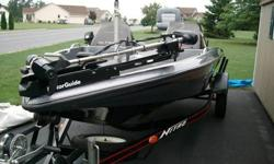 1996 Nitro Tracker Trailer included. Has the following accessories...Keel Guard, Motor Guide Pro Series 70 lbs. thrust 24 volt trolling motor, Dual counsels, Dual live wells, Dual coolers, Dual storage compartments, Eagle fish mark 320 fish finder, Eagle