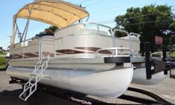 """FOR SALE IS A 1996 PREMIER SUNSATION SERIES PONTOON BOAT. THIS IS A 20' BOAT WITH AN 8' 2"""" BEAM. THE ENGINE IS AN OUTBOARD JOHNSON TWO-STROKE RATED AT 50HP. OTHER FEATURES INCLUDE: BIMINI TOP, AM/FM/CD, TANNING PLATFORM, HUMMINGBIRD LCR100 DEPTH FINDER,"""