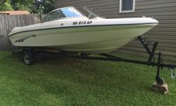 Sea Ray 175 Bowrider with Mercruiser 3.0LX and Alpha One outdrive. 135 horsepower. -Tow hook and brand new tow rope for tubing, wake boarding, ski, etc.-6 rod holders-2 anchors, dock lines, life vests, fitted cover, and all coast guard safety equipment