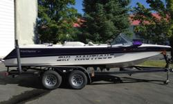 For the ski purest. This 1996 Ski Nautique closed bow is a great find. Gently used with only 685 hours on the PCM GT40 HO. Options are boat cover (not shown), bimini, stereo and shower. These options are more than what the skier needs. Must see to