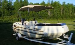 With a host of outboard power plant options, Sylvan will help you set the up to suite your exact requirements. The boat can handle up to 175 ponies on the back, but fair warning, the boat does have significant bow lift before it gets on plane, so the