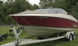 Year:1997 Use:Fresh WaterMake:Bayliner Engine Type:Single Inboard/OutboardModel: CAPRI 2350SSEngine Make:Chevrolet EngineType:Bowrider Engine Model:350 4V ELECTRONIC IGNITION 5.7LLength (feet):23 Primary Fuel Type:GasBeam (feet):8.5 Fuel Capacity: 51 - 75