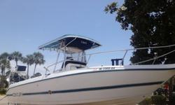 Excellent condition with minor cosmetic scratches. Dual 200 hp 2 stroke just REBUILT power head, starboard engine with 5 hours ! 3 year warranty on powerhead, however, not transferrable. New fuel pumps, new oil infusion pump, new coil pack?s, new