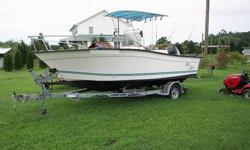 We have a nice 20.1' 1997 Key Largo center console for sale here. Boat is in great condition overall - good motor/hull/accessories. Has outboard 150 Mercury Offshore. Engine runs great - picture shows how clean it is. Includes trailer. See