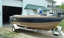 1997 Lund 1800 Fisherman.-4.3 Litre LX V6 (190 HP)-Merc Cruiser Drive Alpha One Series-Minn Kota 70 lb Thrust Auto Pilot with Battery Condition Monitor-Lowrance 480 Depth Finder/Fish Finder with GPS-Pro Mariner Tournament Onboard Charger-2 Deep Cycle