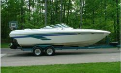 This 1997 Powerquest 270 Laser has been professionally maintained and offers many recent updates, including an extensive engine rebuild and outdrive service by Tyler Crockett Marine (reflected in the low engine hours), most cockpit vinyl has been replaced