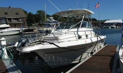 END OF SEASON BLOWOUT SALE @ BELOW BLUE BOOK PRICE.NEEDS REMAN POWER HEAD WHICH COST $3K APPROX. THIS CRUISE/FISHING BOAT IS POWERED BY TWIN YAMAHA 250HP SALTWATER SERIES ii/OS-66 OUTBOARDS.IF YOU ARE UNFAMILAR WITH BOATING MAGAZINES 'BOAT OF THE