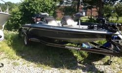 1997 Dual Console Procraft Bass Boat. Boat is in A-1 condition. Has not been in water since 2007. Complete refurbishment just completed by certified Mercury Technicians. Boat was completely refitted as required to bring back all systems to current