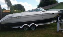 2007 Shorelander trailer with 3 new tires and new brakes. Fresh water tank. Air conditioning in cabin. CD/radio system. Flat screen tv. Garmin navigator, fish finder, water depth. Compass. Marine radio. Adult and children life jackets. Bumpers. Working