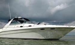 1997 Sea Ray 330 Sundancer. This boat is powered with 7.4 310 HP carbureted engines with about 623 hours. All New Black Canvas 2016(very sharp), New tachometers, radar, windlass with helm controls and bow foot controls, a/c reverse heat, depth sounder,