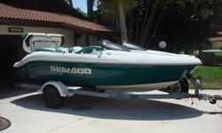 You are looking at a 1997 SeaDoo Challenger 1800. This boat was owned and maintained by a professional watercraft mechanic . The engines have less than 50 hours on them since they were rebuilt. The engines run strong and the boat is excellent in the