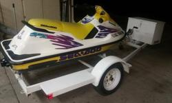 1997 SEADOO SPX. HAS THE 787 MOTOR 110HP. LIGHTEST SKI MADETHAT YEAR AT ONLY 428 LBS AND AMAZING POWER TO WEIGHTRATIO. GREAT CONDITION, VERY FAST AND FUN! NEOPRENE HANDLEBAR COVER, HYDRO-TURF, ELECTRIC VTS TRIM AND NEW BATTERY............ TAGS ARE GOOD