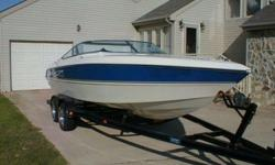 1997 STINGRAY 220 SX.PERFORMANCE CUDDY.CABIN BOAT.POWERED BY MERCURISER 350 MAG MPI 300HP.STERN DRIVE ENGINE.WHITE HULL WITH BLUE STRIPES, W/ CORSA EXHAUST SYTEM.BIMINI TOP .LESS THAN 300 FRESH WATER HOURS ON THE BOAT.BOAT + TRAILER PACKAGE.This boat was