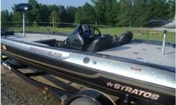 1998 Stratos 295 Pro Elite,1998 Stratos 295 Pro Elite, gold and black in color. Boat has 101lb thrust 36 volt Minnkota trolling motor, 3 bank charger, 2 Fishmark 480 depth finders, jackplate sea star hydraulic steering, motor runs out great no mechanical
