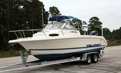 Description: 1997 Wellcraft 240 Coastal!!225hp Mercury Optimax EFI w/ ONLY 3 HOURS!!!BRAND NEW POWER HEAD!!Perfect Compression on ALL Cylinders!!Nice Bimini Top!!Brand New Bluetooth Stereo and Speakers w/ AMP!!Great Condition Inside and Out!!!!Runs