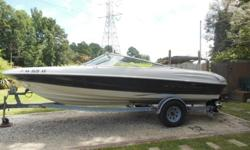 21 ft open bow; I/O Mercruiser has ONLY 150 hours on engine. Seats 9/w lots of storage compartments and built in cooler. Has matching bimony top, SUNDECK; great stereo and a built in depth/fish finder.Has a SS prop /w one extra prop. Comes /w