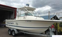 THIS BOAT IS A SINGLE OWNER AND VERY WELL CARED FOR. JUST ONE LOOK AND YOU CAN TELL THIS BOAT WAS BABIED AND GARAGE KEPT WHEN NOT IN USE. EVEN THE MANUALS THAT COME WITH THE BOAT AND EQUIPMENT GIVE SOME INDICATION OF JUST HOW THE PREVIOUS OWNER TREATED