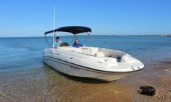 1998 Chapparral Sunesta 252 25 ftBeing sold by Captain for origional ownerExcellent condition, East Hampton, New York 165 total hrs. 5 litre V8 EFIBimini Top (new)Enclosed head with holding tankFull coverDuel batteriesUpgraded Blue tooth 6 speaker stereo