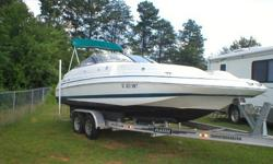 This used 1998 Chris Craft used boat is equipped with the following features: ?5.0L VOLVO PENTA runs good(Inboard/Outboard)?122hrs?Half Bath?Aluminum Boat Trailer ?Bimini Top?Boat Cover?Seats 10-14?AM/FM/CD Player?Upholstery is good?Tires are good with