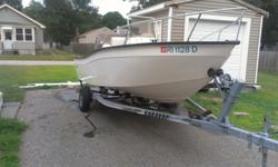 The boat is in great shape turn key ...its a 1998 Key Largo 166 with bow rail comes with a 2012 Evinrude etec 90 up with less then 100 hours and is under full warranty until 7/16 ..trailer is also included ...boat has new gauges and radio cd player with 2