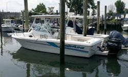 The boat is in very good condition for a 1998. The hull is a very good design for fishing and the boat handles very well with a bracket mounted outboard. The hydraulic steering was serviced and new seals installed, the fuel gauge and sender has been
