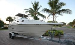 I'LL RESPOND ONLY THROUGH PHONE SO PLEASE LEAVE ME YOUR NUMBER. THANKS!EXTRA CLEAN ONE OWNER REGAL 258 COMMODORE. THE BOAT OFFERS A VERY SPACIOUS CABIN AND DECK LAYOUT. HAS VERY LOW HOURS (132 TOTAL ORIGINAL HOURS).240 HP VOLVO 5.0 GI (132 HOURS)VOLVO DUO
